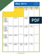 Oakmont United Methodist Calendar May 2014