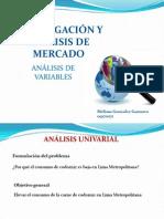 Análisis de Variables Ejercicios 09170071 Gonzalez Gamarra