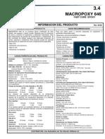 MACROPOXY 646 Información Del Producto
