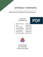 Makalah Perekonomian Indonesia - Perdagangan dan Pembayaran Internasional