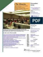 News From the Libraries - UT HSC Newsletter November 2009