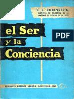 Rubinshtein - O Ser e a Consciência [Espanhol]