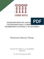 XXXIII Reunión de Asociaciones y Entidades para la defensa del Patrimonio Cultural y su entorno. Junio 2014