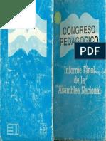 EL003621 COngreso Pedagogico 1988 Informe Final