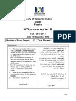 Ms101 MTA FormB Answer Key Fall2014
