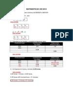 solucionMATEMÁTICAS CDI 2014