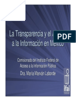 Marvan La Transparencia y El Acceso a La Información en México-colombia