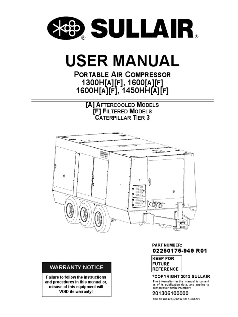 sullair 1600 t3 manual gas compressor mechanical engineering rh scribd com