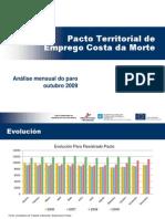 Resumo Datos de Paro Rexistrado Outubro09.PTE Costa Da Morte