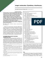 10 Immunologic Messenger Molecules Cytokines Interferons and Chemokines