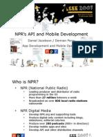 Application Development_Demian Perry_NPR Digital Media