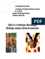 Aula 1,2, 3-Microbiologia Industrial