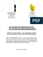 Rapport SOS Racisme Fichage Ethno-racial 11 09