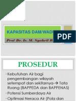 Kapasitas Dam Waduk