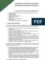 PROCEDIMIENTO DE INSCRIPCIÓN PARA ESTUDIANTES DE PRIMER INGRESO