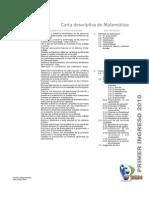 Guia/carta descriptiva de primer ingreso, curso de Matemática