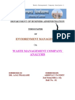 WASTE MANAGEMENT COMPANY ANALYSIS