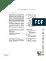 Guia/carta descriptiva de primer ingreso, curso de Quimica