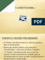 DIREITO CONSTITUCIONAL I- Conceito e Noções Preliminares