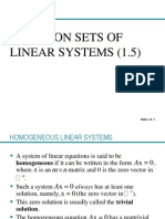 1.5 SolutionSolution Sets of Linear Equations PPT