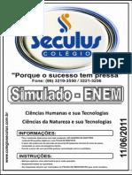 Simulado Enem - Ciências Humanas e Suas Tecnologias e Ciências Da Natureza e Suas Tecnologias