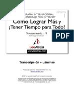 Leo Alcalá - Cómo lograr más y tener tiempo para todo - Transcripción 01