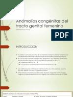Anomalías Congénitas Del Tracto Genital Femenino