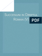 Succesiuni in Dreptul Roman (V)