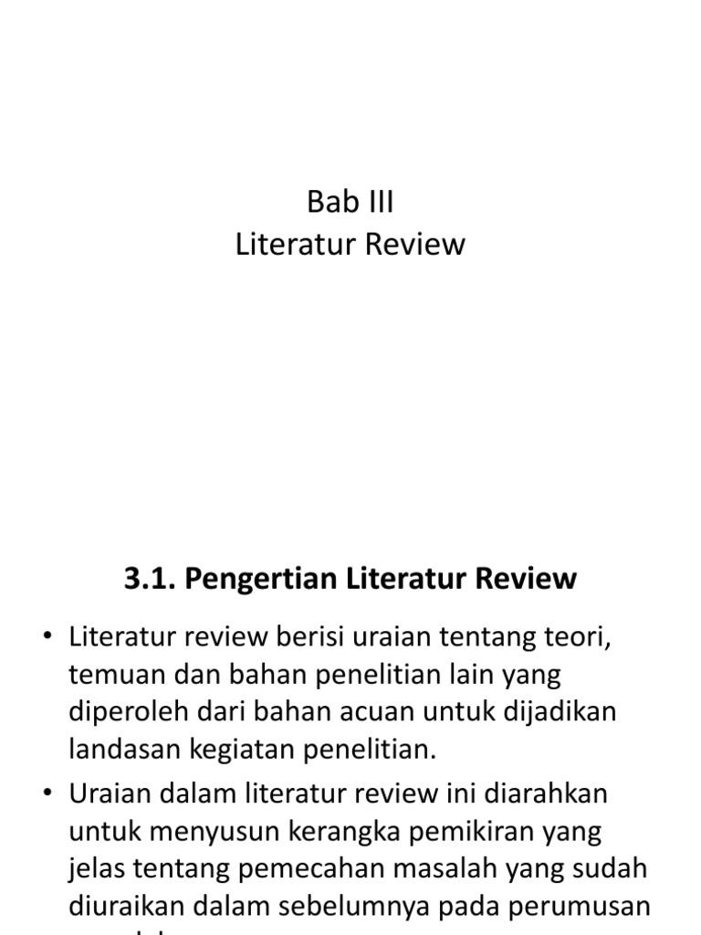 Contoh Skripsi Studi Literature Review