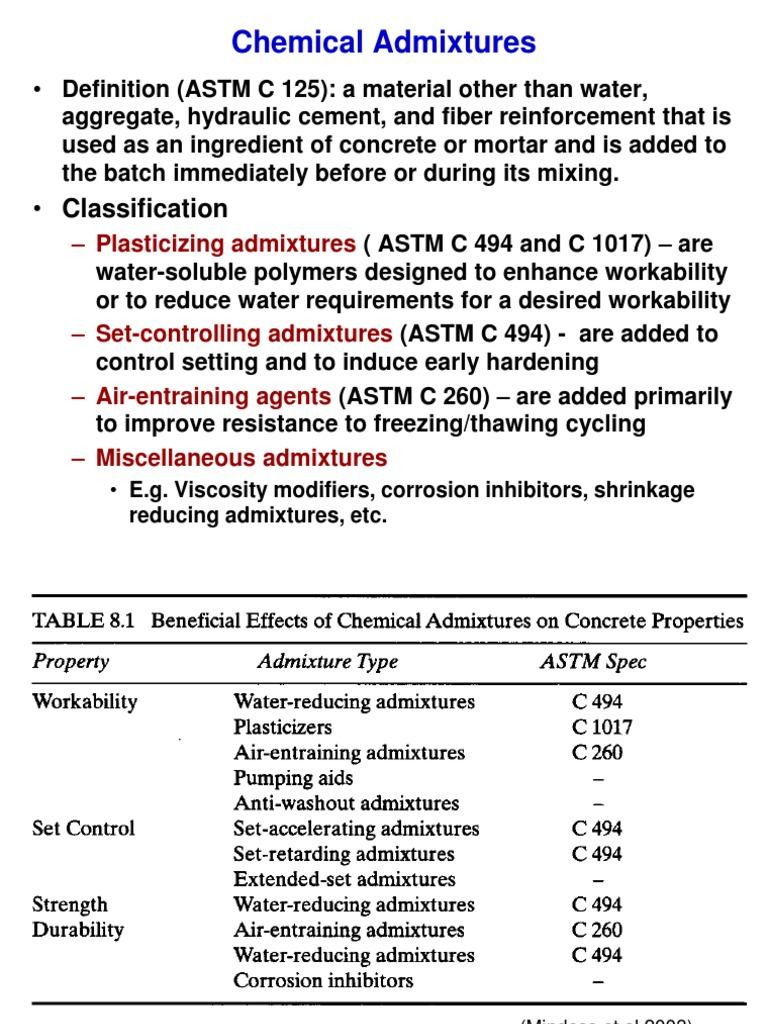 4 Chemical Admixtures | Concrete | Mortar (Masonry)