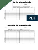 Controle de Mensalidades