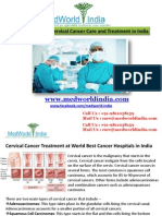 Cervical Cancer Treatment at World Best Cancer Hospitals in India