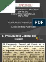 El Componente Presupuestario (Fases)