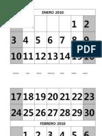 Calendario 2010 Letra Grande