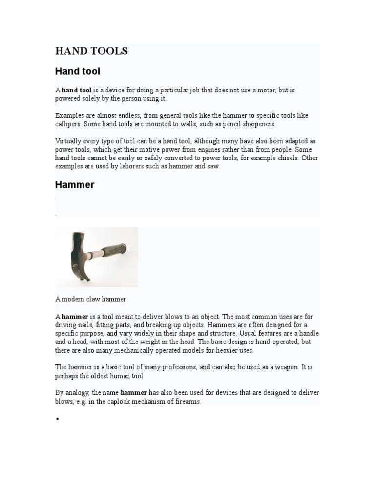 Hammer / Tukul | Hammer | Tools