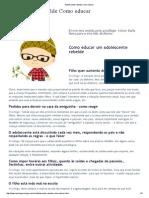 Adolescente Rebelde Como Educar [Marisapsicologa.com.Br]