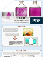 TRANSFERENCIA de MASA, Diapositivas Difusividades de Gases y Liquidos