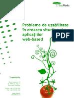 Probleme de uzabilitate în crearea siturilor şi a aplicaţiilor web-based