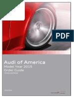 Audi Order Guide 2015 USA no pricing