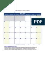 Blank May 2014 Calendar