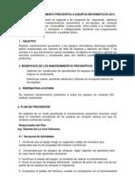 Plan de Mantenimientos 2013-Dianitza