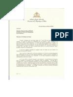 Correspondance Responsive du Président de la République au Président du Sénat de la République