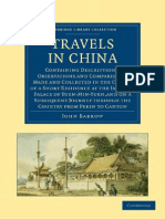 Travels in China Containing Descriptions Observations and Comparisons Made and Collected in the Course of a Short Residence at the Imperial Palace