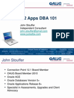 Stouffer Release 12 Apps DBA 101 10-14-12 V2 SLIDES