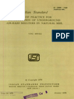 Is 5499 - 1969 Code of Practice for Construction of Underground Air-raid Shelters in Natural Soil