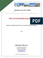 Slab on Grade Reinforcing Design
