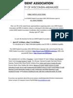 UWM Student Association Elections Public Notice