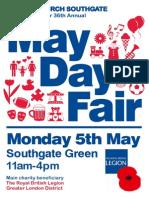 May Day Fair, Southgate Green, Monday 5th May 2014