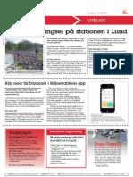140430_ Valborg = trängsel på stationen i Lund
