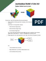Tutorial menyelesaiakan Rubiks Cube 3x3